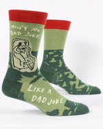 Ain't no bad joke like a dad joke crew socks