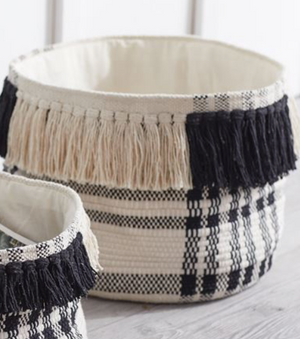 Black and White Check Baskets