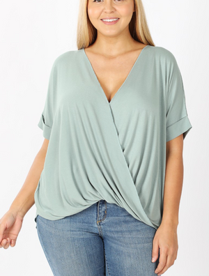 Lt. Green Draped Top