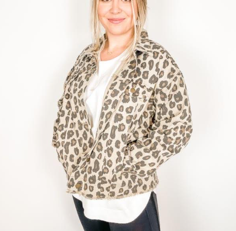 Khaki Leopard Gone Wild Jacket