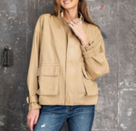 Khaki Washed Twill Jacket