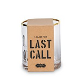 Last Call EMBOSSED GOLD RIMMED