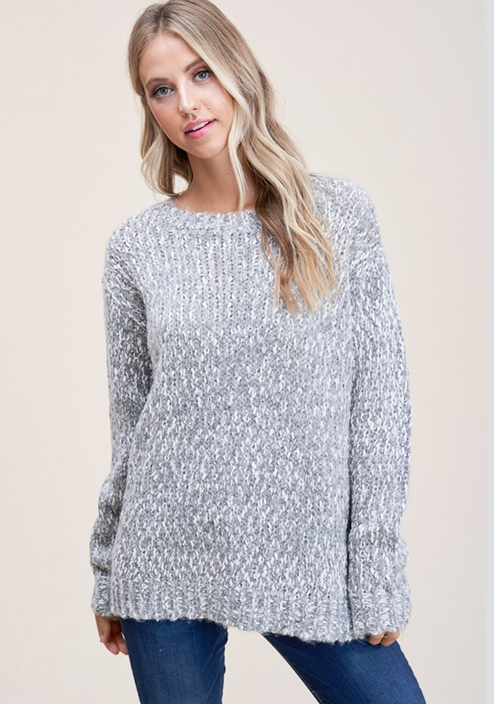 H.Grey Crew Neck Sweater