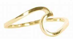 Gold Wave Ring Pura Vida