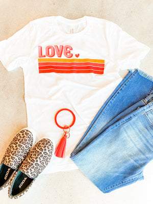 Love Stripe tee