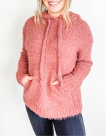 Knit Sweater with Hoodie