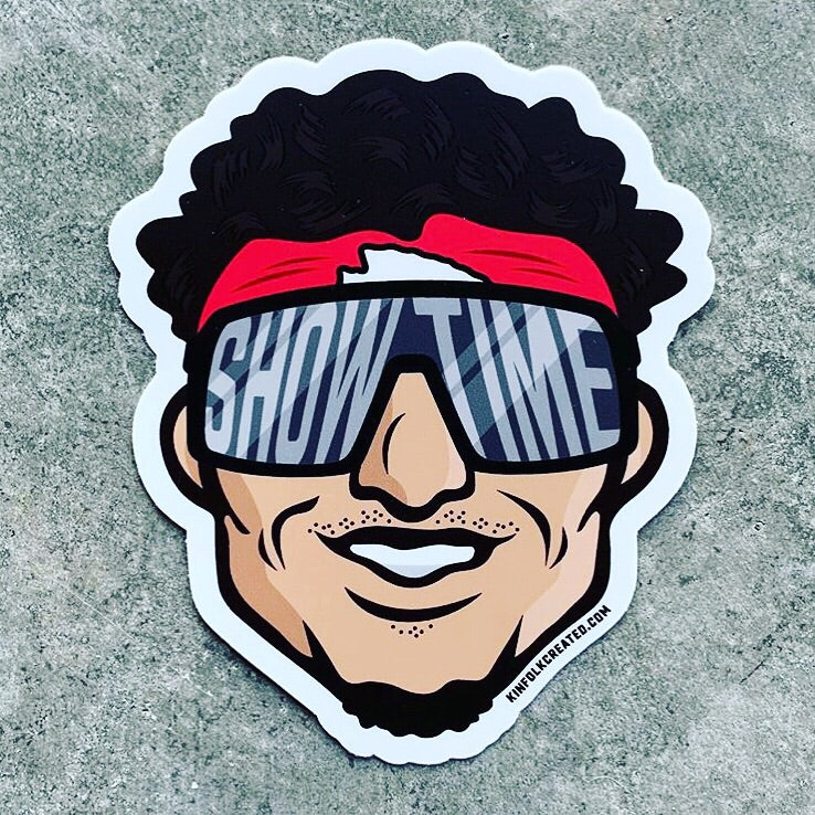 Showtime Mahomes Sticker