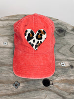 Leopard Heart Red Hat
