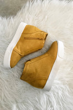 Wedge Elastic Slip On Sneaker