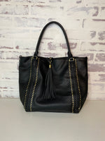 Romona Studded Satchel Black