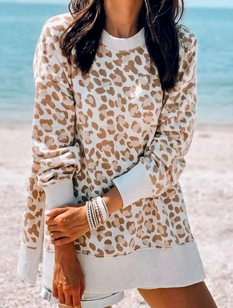 Leopard Side Split Sweater
