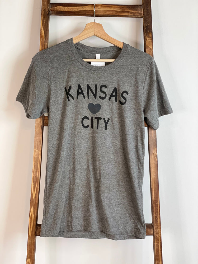 Kansas Heart City Grey Tee