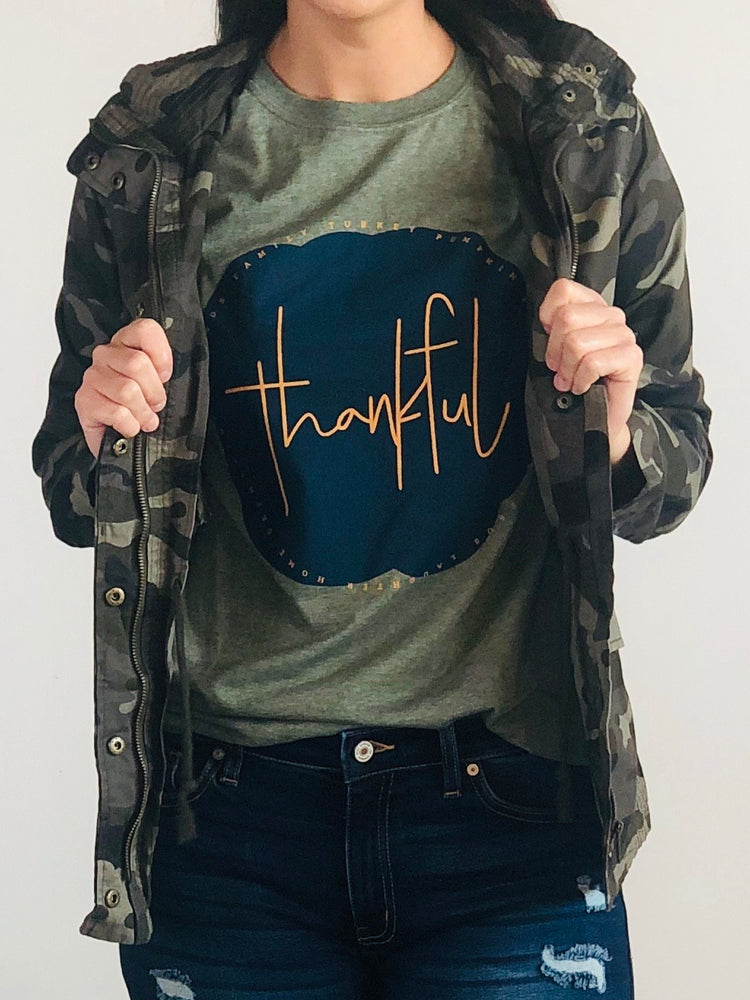 Thankful Green Tee