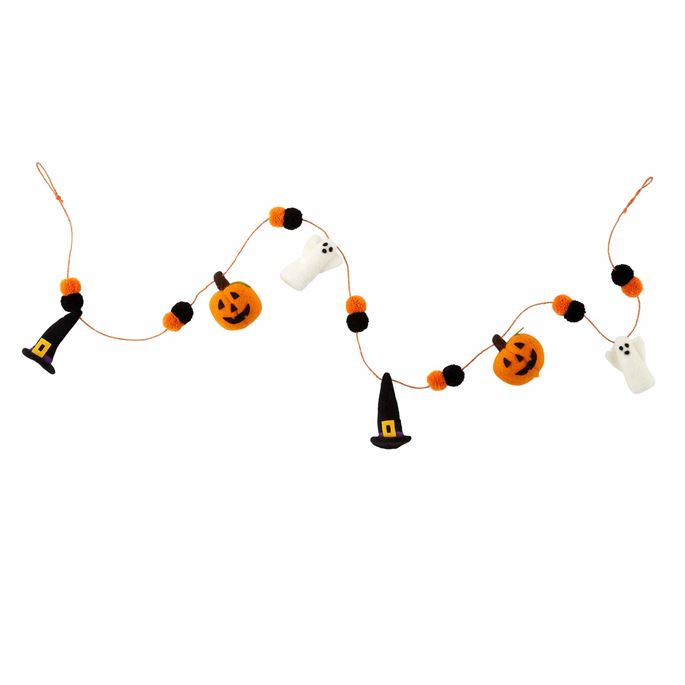 Pumpkin Witch Halloween Garland