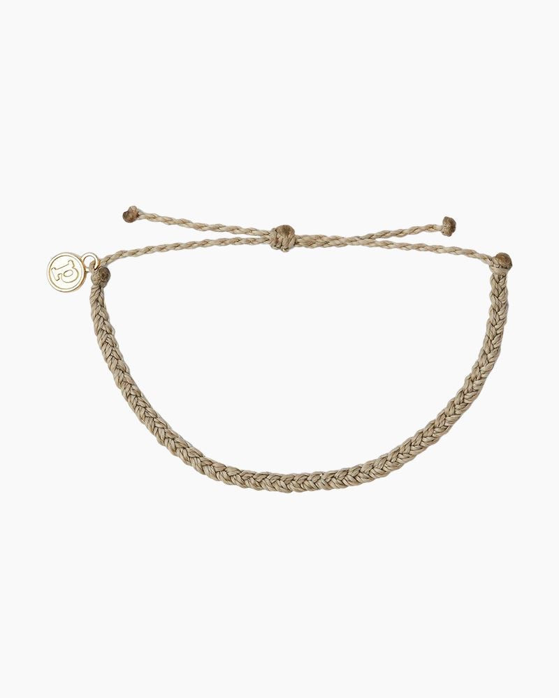 Mini Braided Light Gray Pura Vida Bracelet