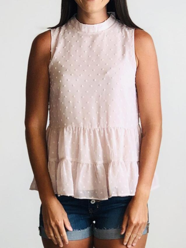 Dusty Mauve Mock Top