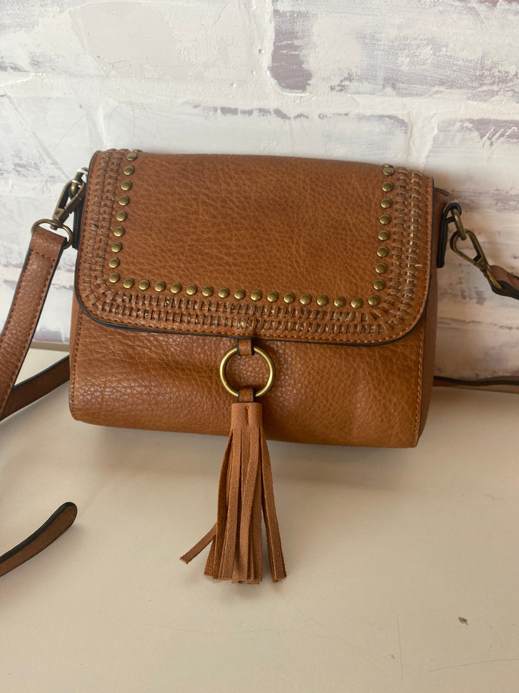 Sage Crossbody with Grommet Detail