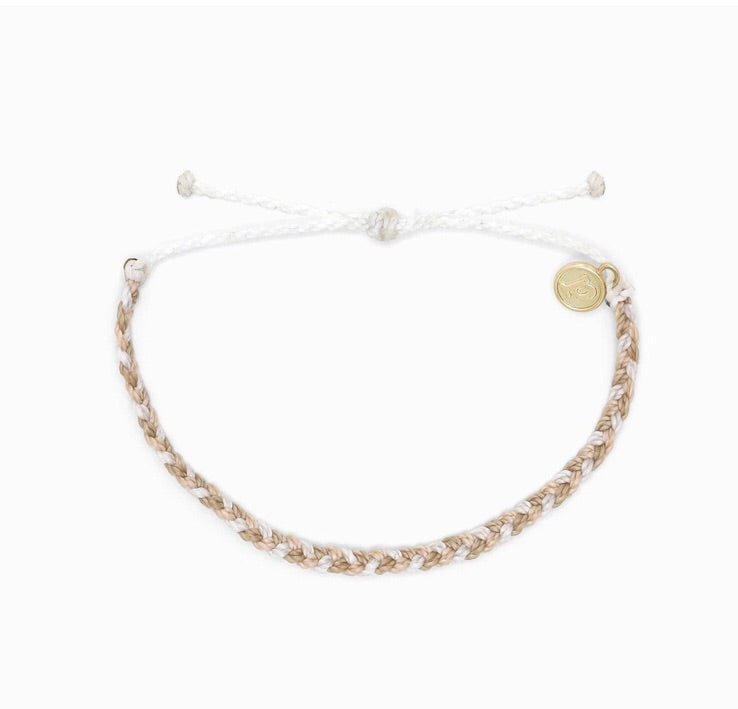 Mini Braid Leche Pura Vida Bracelet