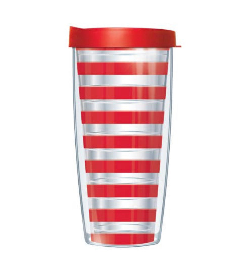 Red Stripe Tumbler