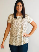 Leopard short sleeve top
