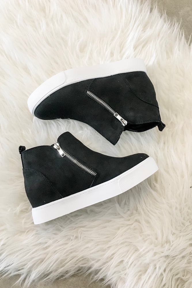 Wedge Zip Up Sneaker
