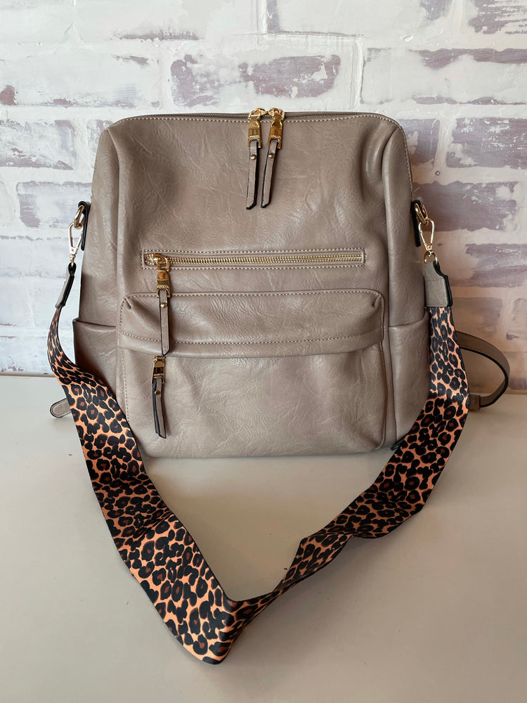 Amelia Backpack-warm gray