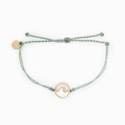 Pura Vida Rose Gold Wave Bracelet Smoke
