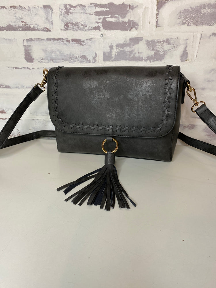 Sandy Whipstitch Crossbody with Tassel
