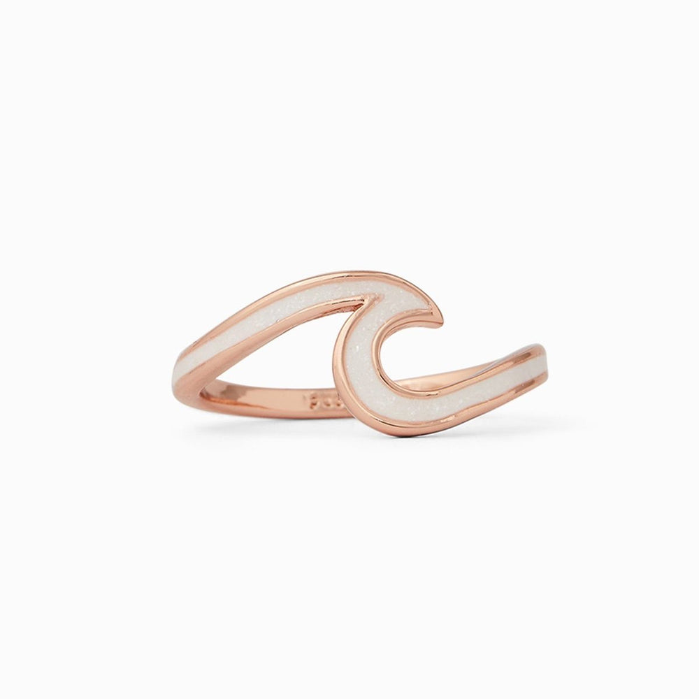 Rose gold Stone Wave Ring Pura Vida