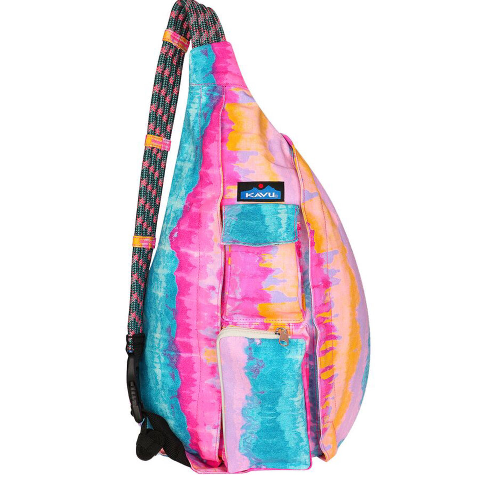 KAVU Surf Tie Dye O/S Rope Bag