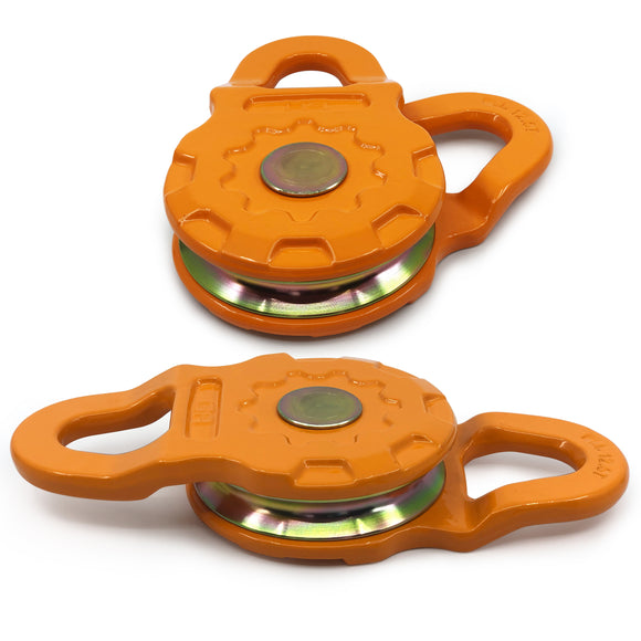 (2 PACK) Mega Snatch Block 25 Ton | Off-Road like a PRO! - Double or Triple your Winch Capacity