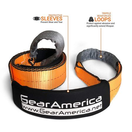 "(2Pk) Heavy Duty Tree Saver Winch Straps 3"" x 8' 