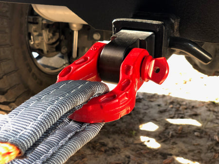 Mega Shackles - Red (2PK) | 68,000 lbs MBC (17,000 lbs WLL) | Off-Road Recovery Anchor Points