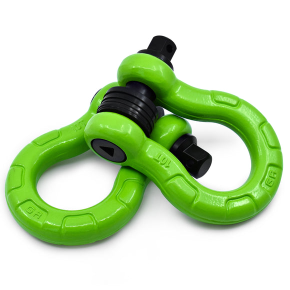 UBER D Rings - Green (2PK) with AntiTheft UBERLock System | 80,000 lbs MBC (20,000 lbs WLL)