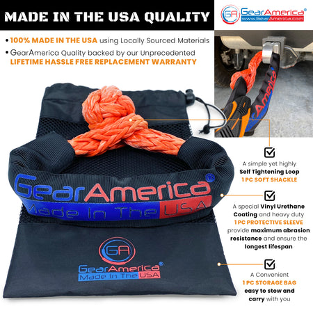 "GearAmerica ½"" Synthetic Soft Shackles (2PK) 