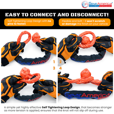 "GearAmerica ½"" Synthetic Soft Shackle 