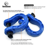 Mega Shackles - Blue (2PK) | 68,000 lbs MBC (17,000 lbs WLL) | Off-Road Recovery Anchor Points