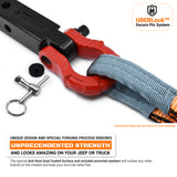 GearAmerica UBER Shackles with Anti-Theft Lock (Red) | 80,000 lb (40T) MBS & 20,000 lb (10T) WLL