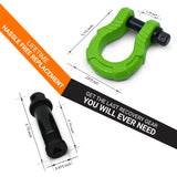 UBER Shackles - Green (2PK) with AntiTheft UBERLock System | 80,000 lbs MBC (20,000 lbs WLL)