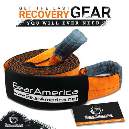 "(2 Pack) Ultra Heavy Duty Recovery Tow Strap 4"" x 30' 