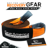 "Mega Duty Recovery Tow Strap 4"" x 30' 