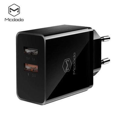 Mcdodo Worldwide accessories white QC 3.0 Dual USB Charger Travel Wall Adapter Qualcomm Qc3.0 Charger