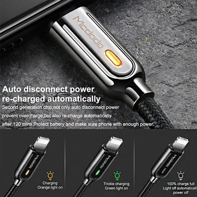 McDodo Auto Disconnect With Reconnect & Fast Charging (flat end) - Mcdodo Worldwide