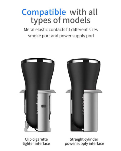 McDodo Dual USB Car Charger Quick Charge 3.0 30w - Mcdodo Worldwide