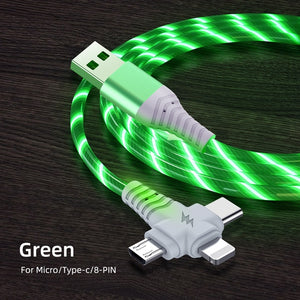 3 in 1 Flow Luminous USB Cable