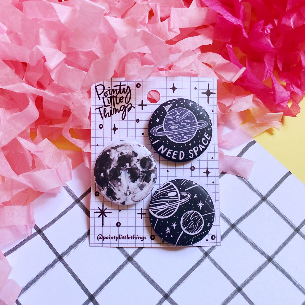 Space Button pin set