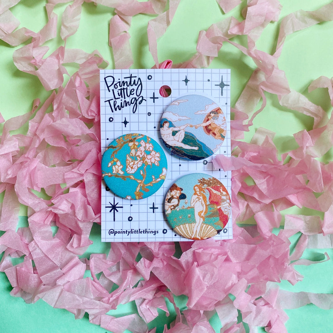 Painting B Button pin set