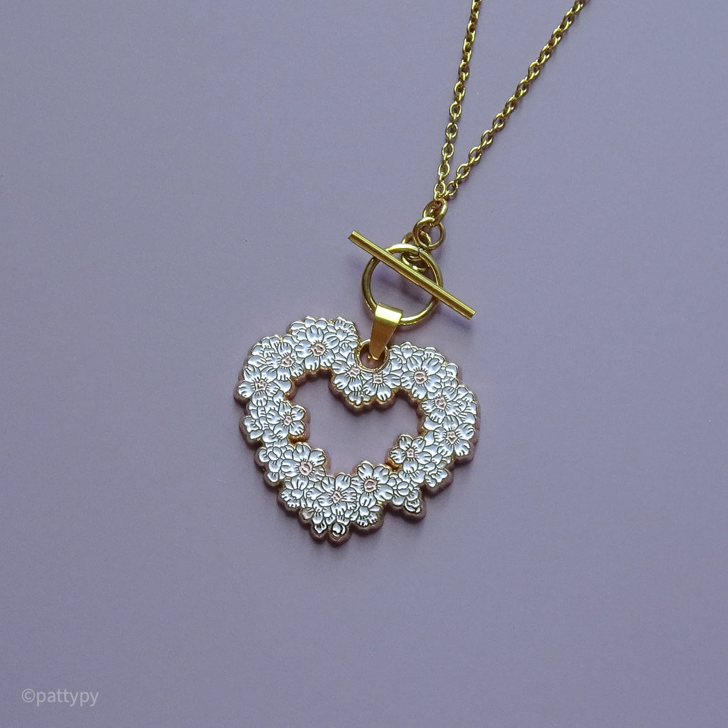Sakura Heart Necklace