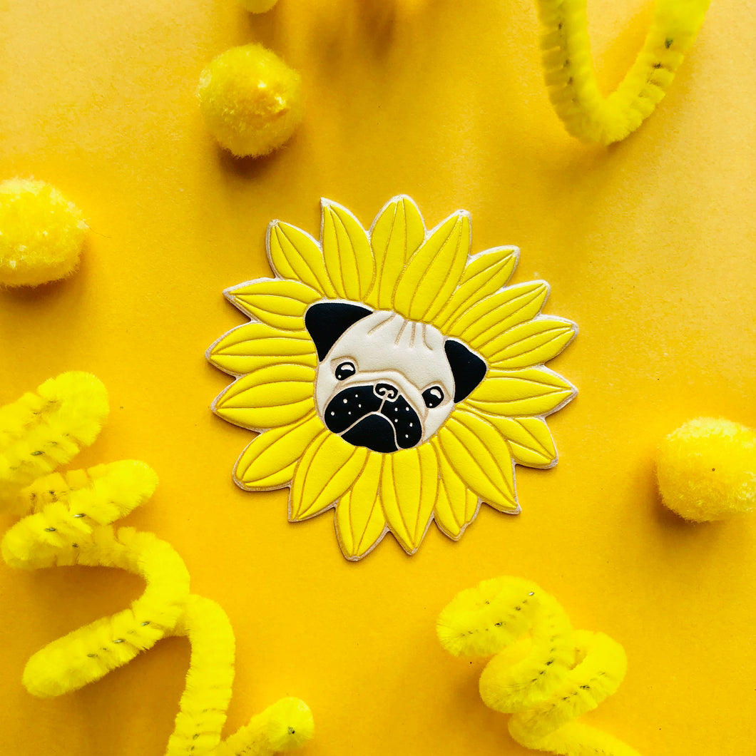 Pugflower Puff Sticker