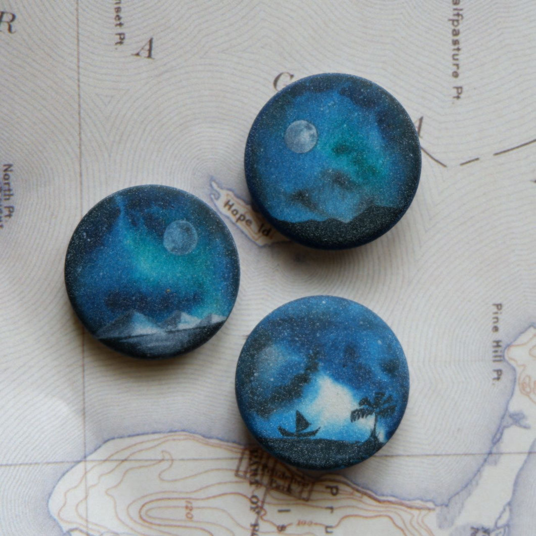 Landscape Button Pin Set